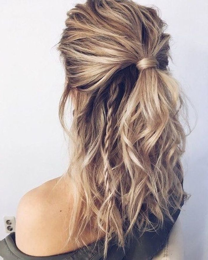 37 Beautiful Half Up Half Down Hairstyles For The Modern Bride Inside Long Hairstyles Up And Down (View 8 of 25)