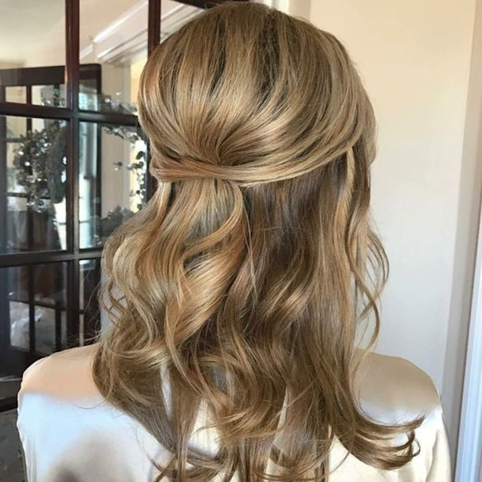 37 Beautiful Half Up Half Down Hairstyles For The Modern Bride Intended For Long Hairstyles Half Up Half Down (View 12 of 25)