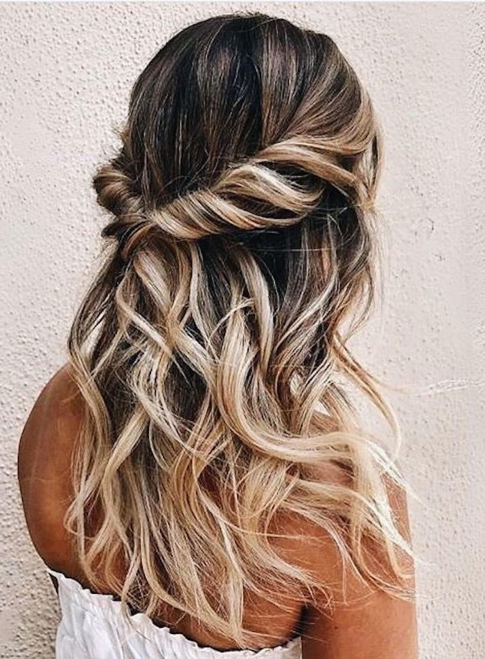 37 Beautiful Half Up Half Down Hairstyles For The Modern Bride Regarding Half Up Long Hairstyles (View 18 of 25)