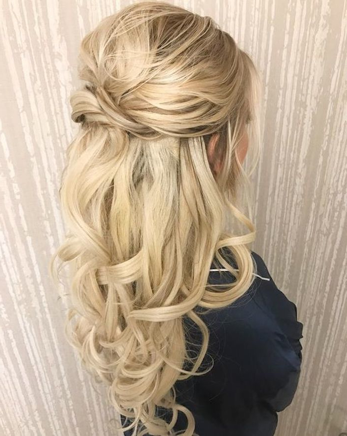 37 Beautiful Half Up Half Down Hairstyles For The Modern Bride With Half Up Long Hairstyles (View 9 of 25)