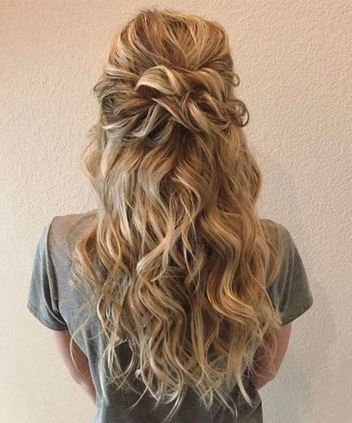 37 Beautiful Half Up Half Down Hairstyles For The Modern Bride With Long Hairstyles Half (View 12 of 25)