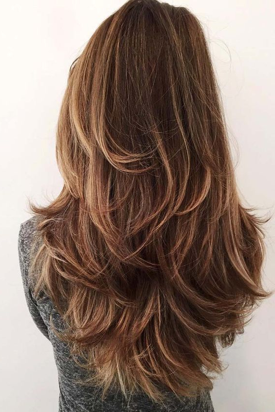 37+ Best Long Layered Hairstyles For Women 2018 – 2019 | Hair Within V Cut Layers Hairstyles For Straight Thick Hair (View 21 of 25)