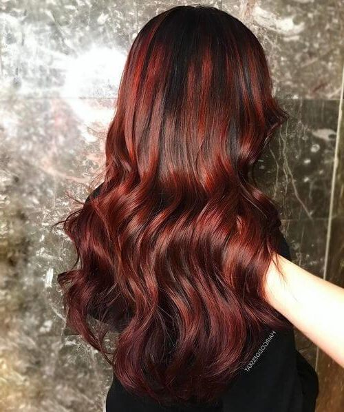 37 Best Red Hair Color Shade Ideas Trending In 2019 In Long Hairstyles For Red Hair (View 16 of 25)