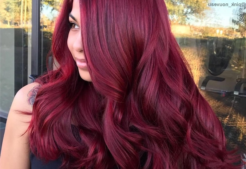 37 Best Red Hair Color Shade Ideas Trending In 2019 In Red Long Hairstyles (View 7 of 25)