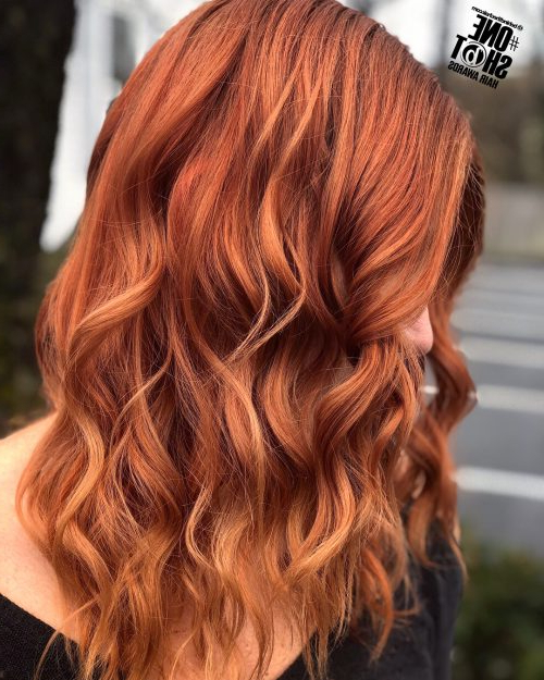 37 Best Red Hair Color Shade Ideas Trending In 2019 Regarding Long Hairstyles For Red Hair (View 7 of 25)