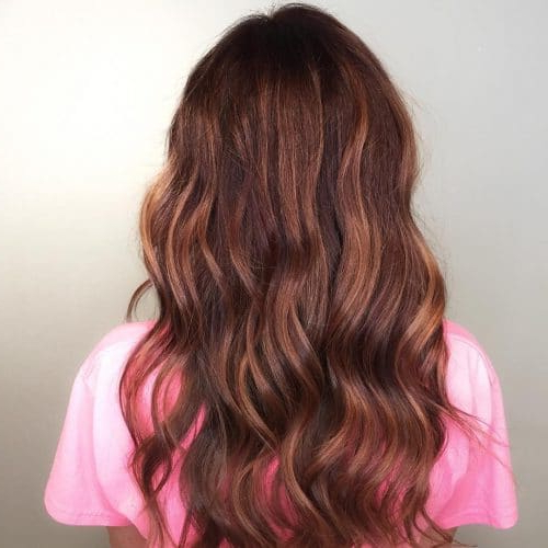 37 Best Red Highlights In 2019 For Brown, Blonde & Black Hair For Long Hairstyles Red Highlights (View 17 of 25)