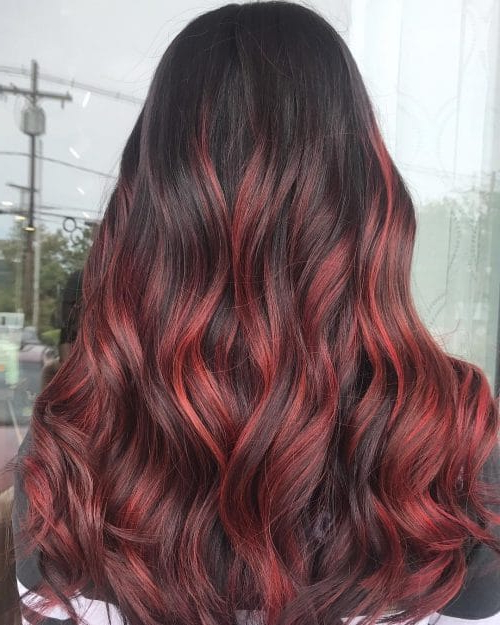 Featured Photo of Long Hairstyles Red Highlights