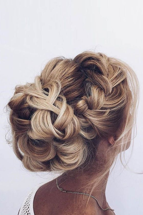 37 Exquisite Wedding & Prom Hairstyles For You To Try | Homecoming With Braid And Fluffy Bun Prom Hairstyles (View 2 of 25)