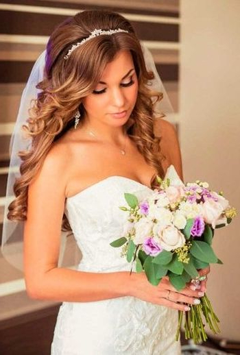 37 Half Up Half Down Wedding Hairstyles Anyone Would Love Inside Long Hairstyles For Weddings Hair Down (View 16 of 25)