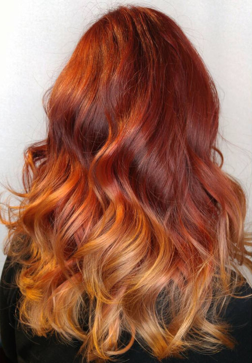 37 Hottest Ombré Hair Color Ideas Of 2019 Inside Long Hairstyles Red Ombre (View 17 of 25)