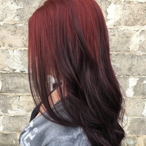 37 Hottest Ombré Hair Color Ideas Of 2019 Throughout Long Hairstyles Red Ombre (View 15 of 25)