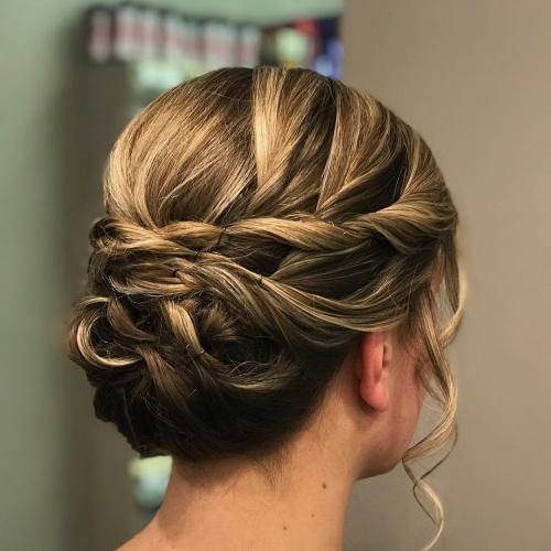 37 Inspiring Prom Updos For Long Hair For 2019 #inspo Pertaining To Classic Prom Updos With Thick Accent Braid (View 13 of 25)