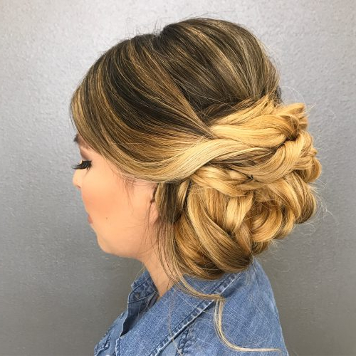 37 Inspiring Prom Updos For Long Hair For 2019 #inspo Pertaining To Romantic Prom Updos With Braids (View 9 of 25)