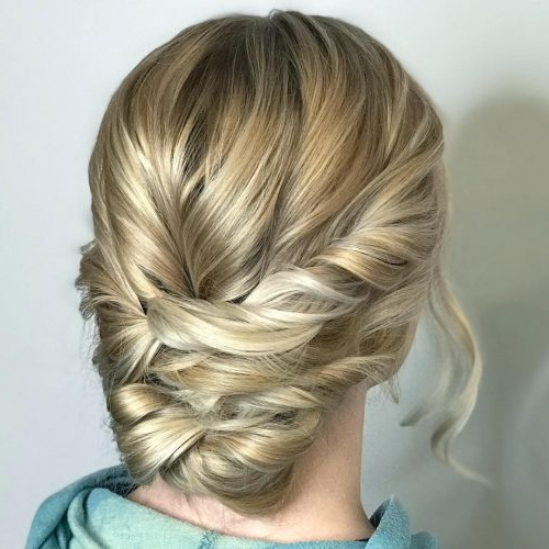 37 Inspiring Prom Updos For Long Hair For 2019 #inspo Pertaining To Twisted Low Bun Hairstyles For Prom (View 19 of 25)