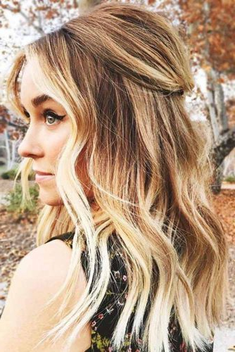 37 Trendy Hairstyles For Medium Length Hair ? Lovehairstyles For Long Layered Half Curled Hairstyles (View 13 of 25)