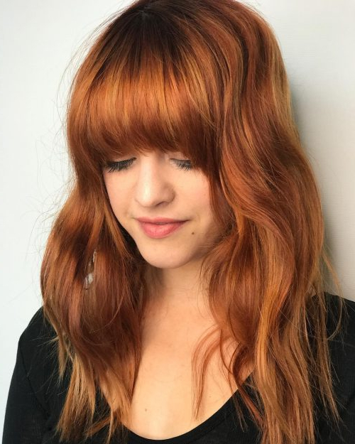38 Flattering Long Hair With Bangs Trending In 2019 In Long Hairstyles With Bangs (View 21 of 25)