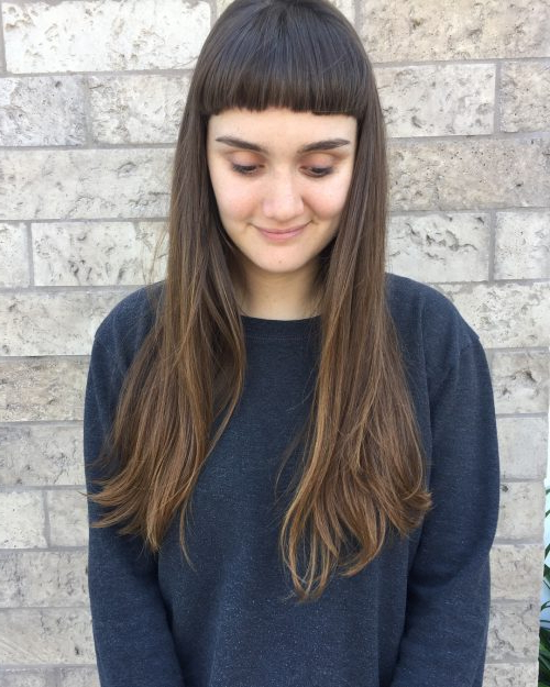 38 Flattering Long Hair With Bangs Trending In 2019 Pertaining To Bang Long Hairstyles (View 8 of 25)