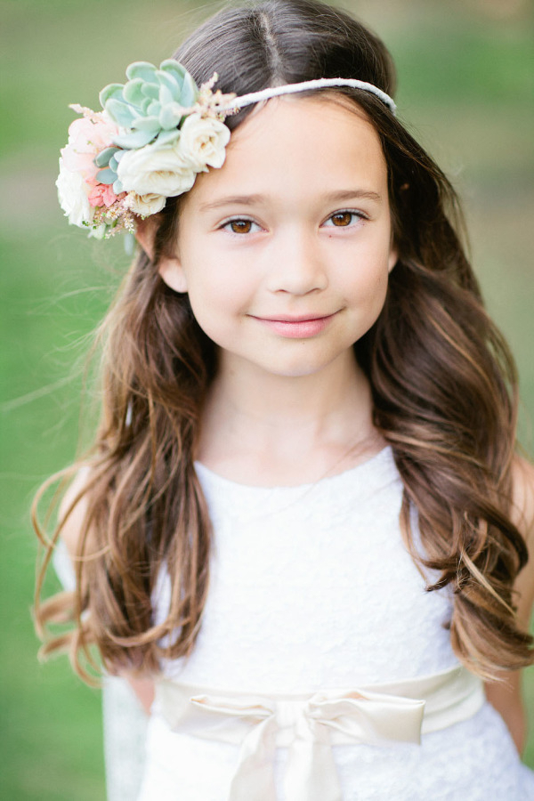 38 Super Cute Little Girl Hairstyles For Wedding | Deer Pearl Flowers With Long Hairstyles For Young Girls (View 17 of 25)