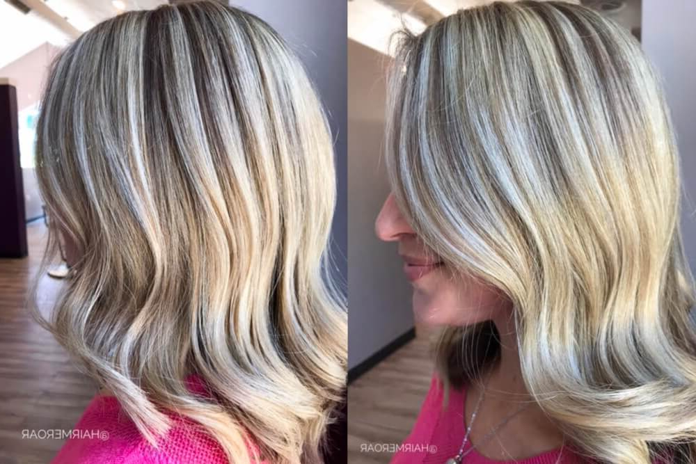 38 Top Blonde Highlights Of 2019 – Platinum, Ash, Dirty, Honey & Dark Intended For Long Hairstyles With Highlights And Lowlights (View 13 of 25)