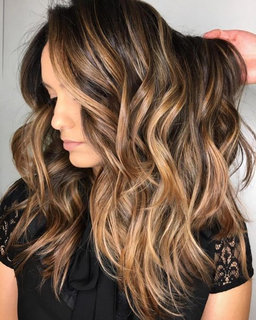 38 Top Blonde Highlights Of 2019 – Platinum, Ash, Dirty, Honey & Dark Pertaining To Long Hairstyles Brown With Highlights (View 6 of 25)