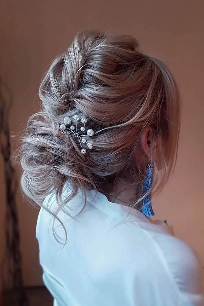 39 Wedding Updos That You Will Love | Hair/makeup | Wedding Updo With Messy Twisted Chignon Prom Hairstyles (View 21 of 25)