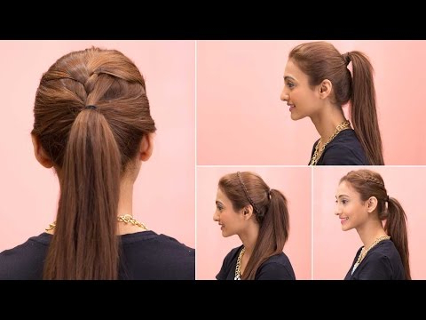 4 Easy Ponytail Hairstyles – Quick & Easy Girls Hairstyles – Glamrs With Long Hairstyles In A Ponytail (View 24 of 25)