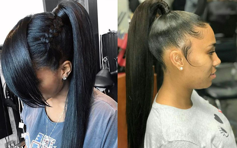4 Long Ponytail Hairstyles On Peruvian Straight Hair Weaves You Within Long Hairstyles Ponytail (View 20 of 25)