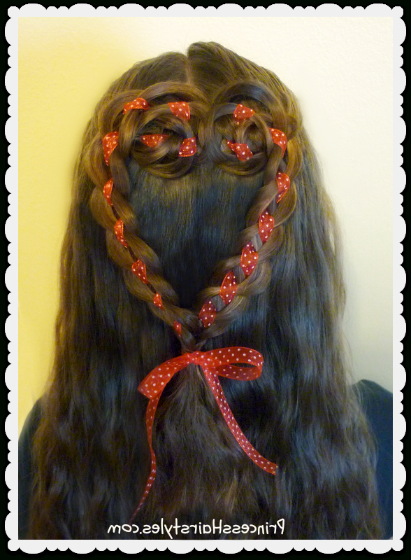 4 Strand Rosette Heart Hairstyle For Valentine's Day   Hairstyles Intended For Rosette Curls Prom Hairstyles (View 16 of 25)