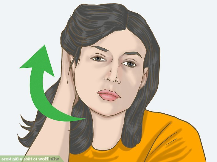 4 Ways To Hide A Big Nose – Wikihow Throughout Hairstyles For Long Faces And Big Noses (View 22 of 25)