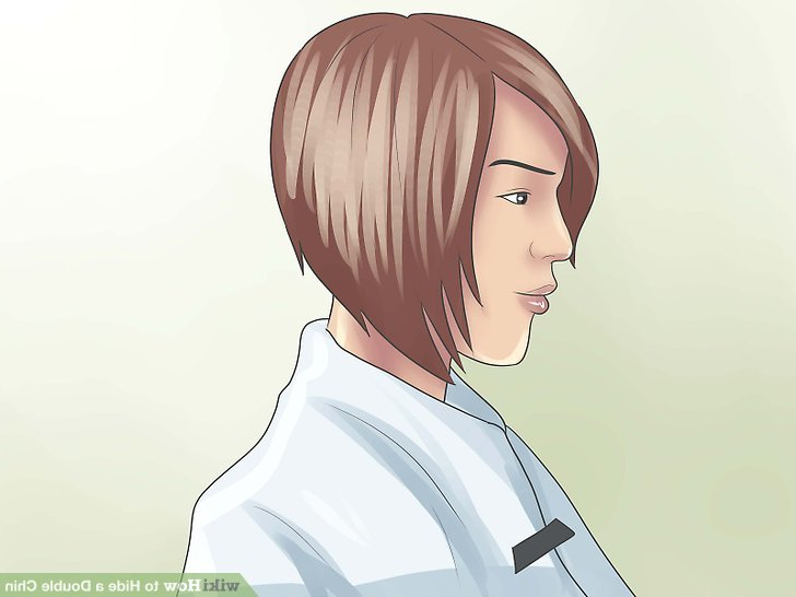 4 Ways To Hide A Double Chin – Wikihow Regarding Long Hairstyles To Hide Double Chin (View 15 of 25)