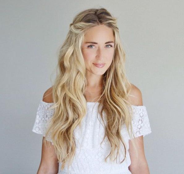 40 Beautiful Beachy Wave Hairstyles We Love | Hair | Hair Styles Inside Loose Messy Waves Prom Hairstyles (View 20 of 25)