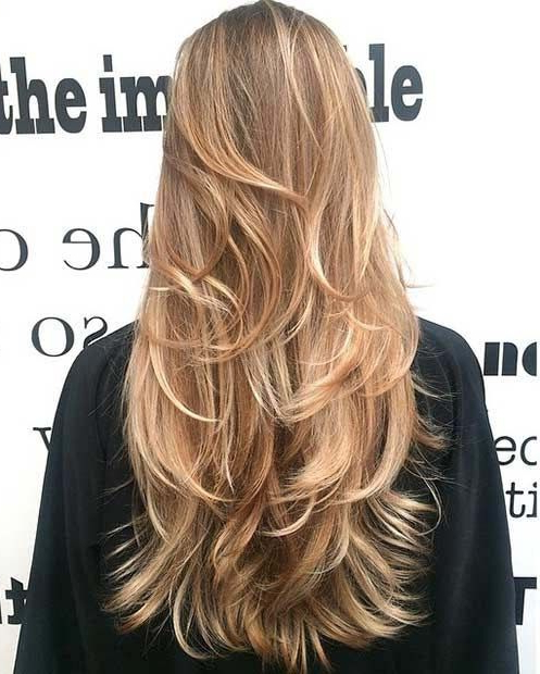 40 Beautiful Long Layered Hair Styles | Hair And Beauty In 2019 Inside Choppy Chestnut Locks For Long Hairstyles (View 3 of 25)