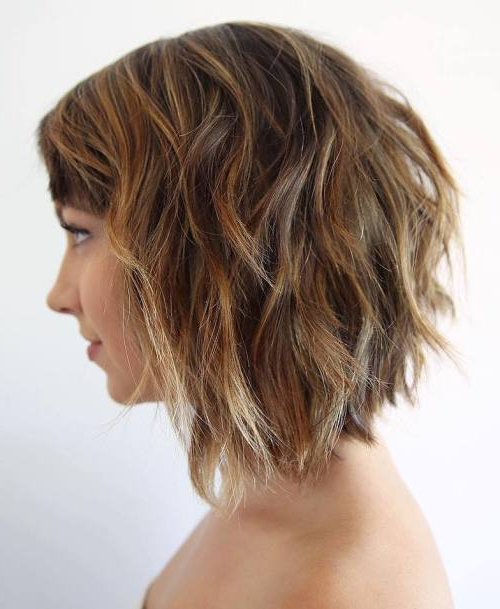 40 Choppy Bob Hairstyles 2019: Best Bob Haircuts For Short, Medium Inside Blonde Textured Haircuts With Angled Layers (View 10 of 25)