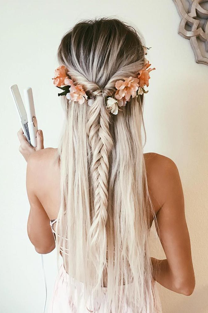 40+ Cutest And Most Beautiful Homecoming Hairstyles   Hair   Hair Regarding Floral Braid Crowns Hairstyles For Prom (View 5 of 25)