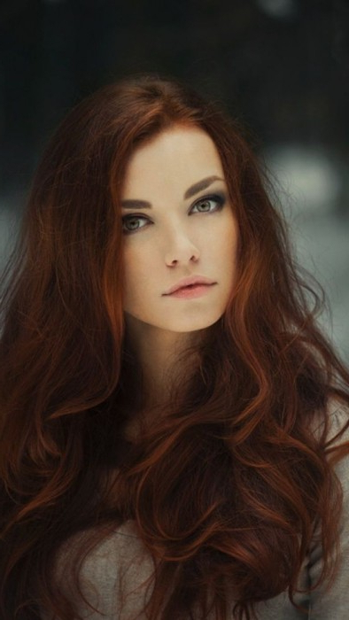 40 Dark Red Hair Color Ideas | Herinterest/ With Long Hairstyles Redheads (View 15 of 25)
