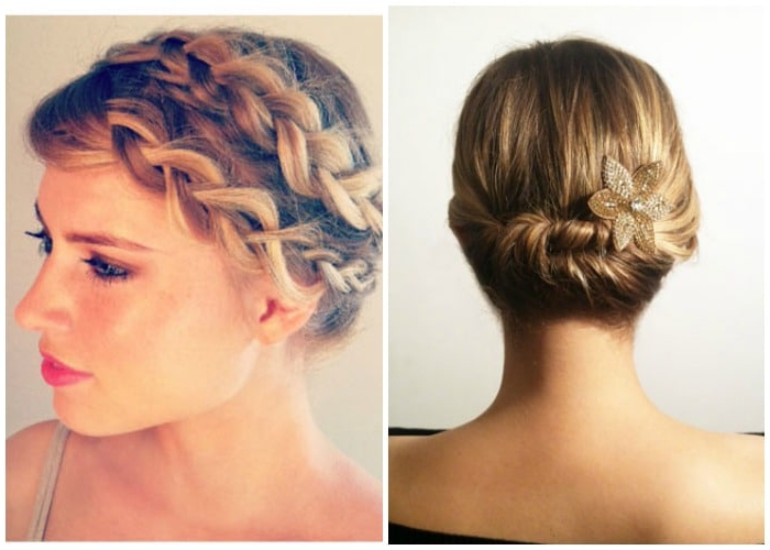 40 Elegant Prom Hairstyles For Long & Short Hair   Somewhat Simple Inside Bun And Three Side Braids Prom Updos (View 15 of 25)