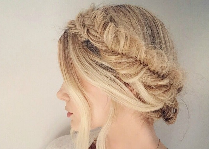 40 Elegant Prom Hairstyles For Long & Short Hair   Somewhat Simple Within Bun And Three Side Braids Prom Updos (View 25 of 25)