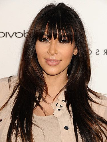 40 Fringe Hair Cuts For 2019 – Women's Hairstyle Inspiration Pertaining To Long Hairstyles With Long Fringe (View 9 of 25)