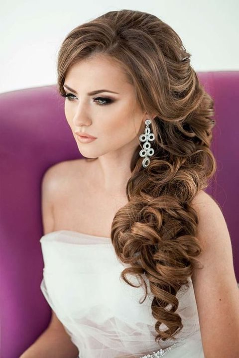 40 Gorgeous Side Swept Wedding Hairstyles | Happywedd With Long Hairstyles To The Side (View 11 of 25)