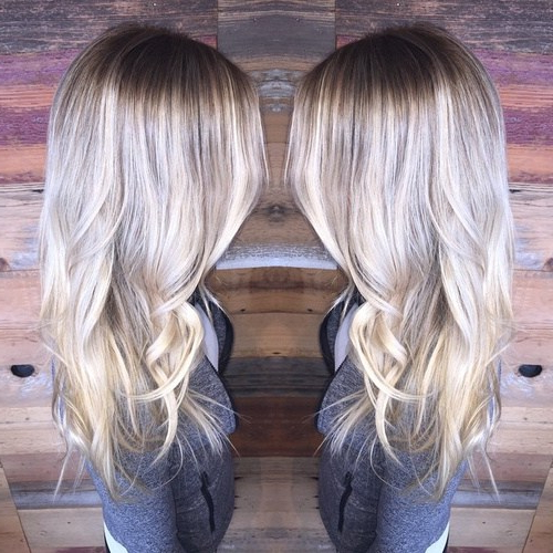 40 Gorgeous Ways To Rock Blonde & Silver Hair! – Hairstyles Weekly With Regard To Loose Layers Hairstyles With Silver Highlights (View 9 of 25)