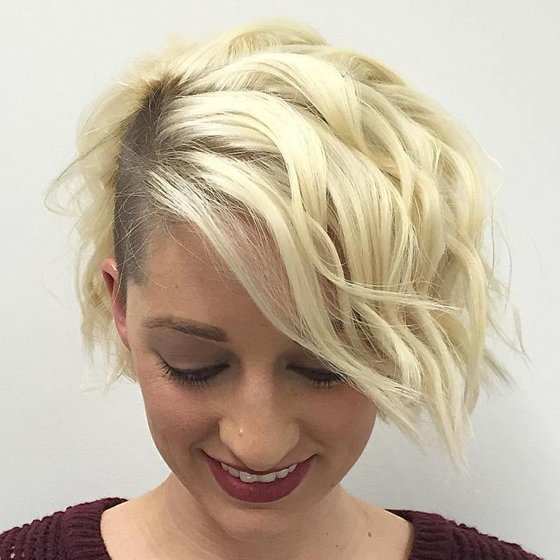 40 Hottest Prom Hairstyles For Short Hair – Page 19 – Foliver Blog Inside Shaved Side Prom Hairstyles (View 7 of 25)