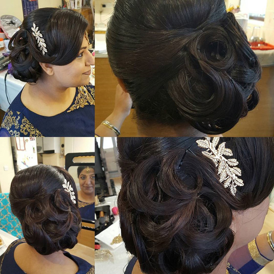 40 Indian Bridal Hairstyles Perfect For Your Wedding In Side Bun Prom Hairstyles With Black Feathers (View 19 of 25)
