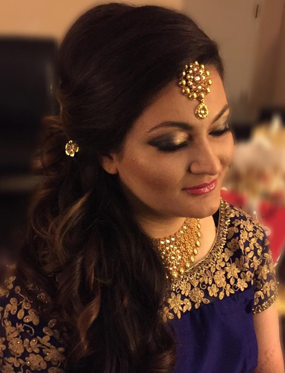40 Indian Bridal Hairstyles Perfect For Your Wedding Inside Indian Wedding Long Hairstyles (View 8 of 25)