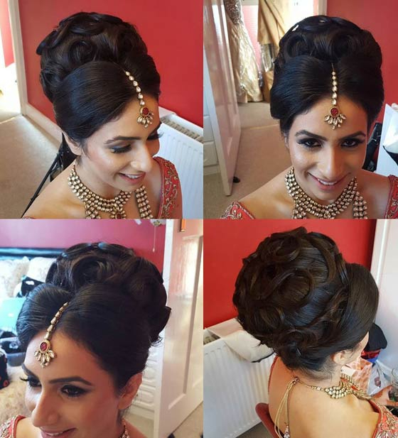 40 Indian Bridal Hairstyles Perfect For Your Wedding Pertaining To Indian Bridal Long Hairstyles (View 15 of 25)
