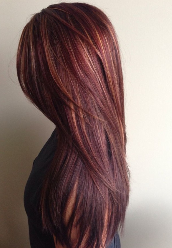 40 Latest Hottest Hair Colour Ideas For Women – Hair Color Trends Intended For Long Hairstyles Brown With Highlights (View 22 of 25)