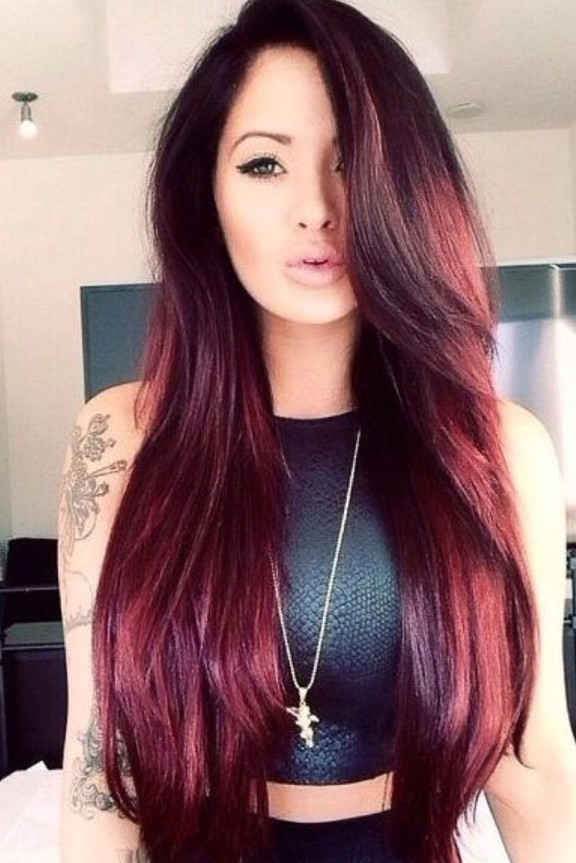 40 Latest Hottest Hair Colour Ideas For Women – Hair Color Trends With Regard To Long Hairstyles And Color (View 8 of 25)