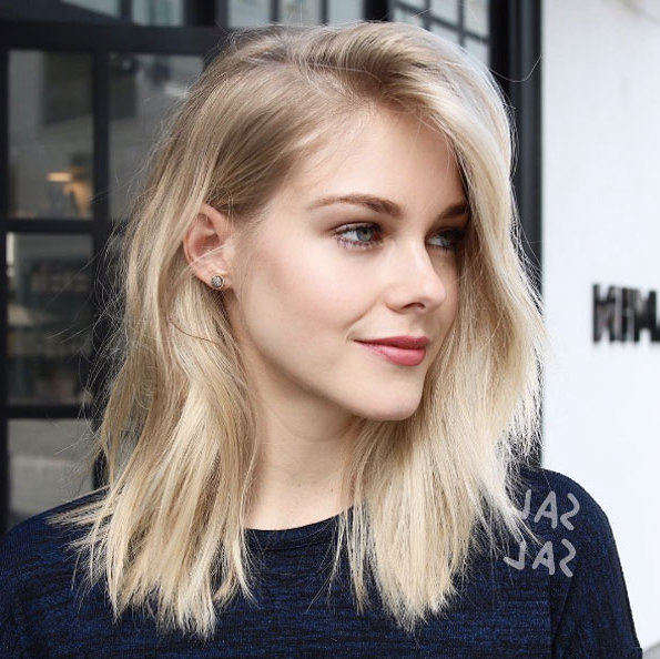 40 Most Flattering Medium Length Hairstyles For Thin Hair – Style Inside Medium Long Hairstyles For Thin Hair (View 21 of 25)