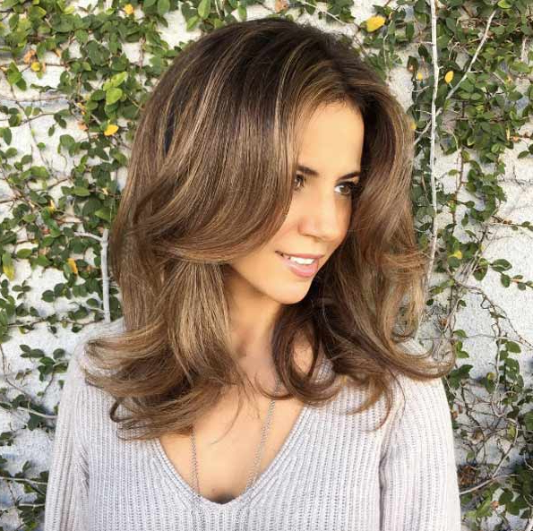 40 Most Flattering Medium Length Hairstyles For Thin Hair – Style With Medium Long Hairstyles For Thin Hair (View 14 of 25)