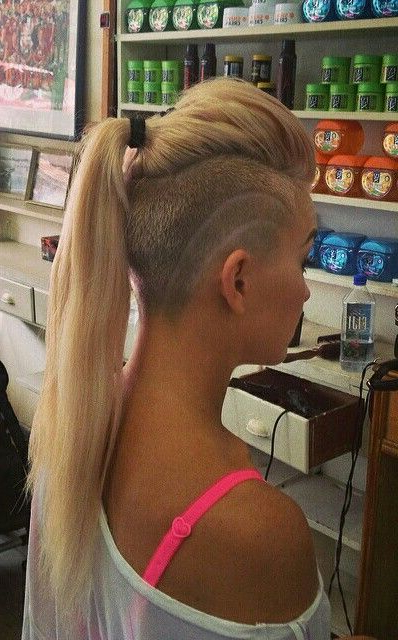 40 Shaved Hairstyles For Women | Herinterest/ Inside Shaved And Long Hairstyles (View 10 of 25)