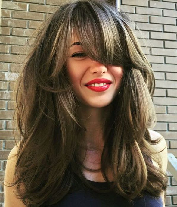 40 Side Swept Bangs To Sweep You Off Your Feet | Hair | Blonde Hair Pertaining To Long Haircuts With Layers And Side Swept Bangs (View 2 of 25)